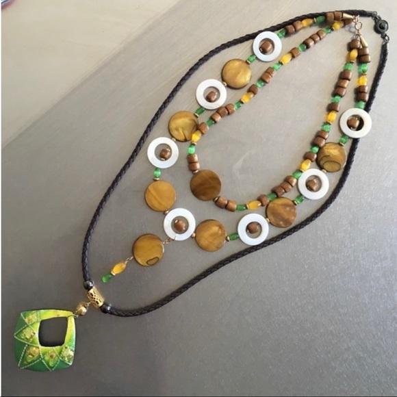 Earth tone necklaces